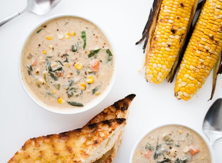 vegan vitamix recipes roasted corn chowder hot for food