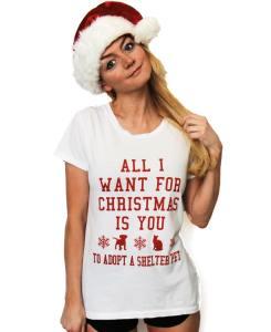 christmas tee the tree kisser