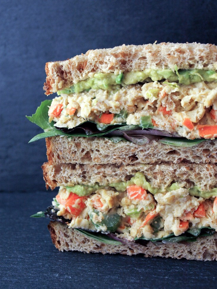 vegan sandwiches recipes chickpea salad