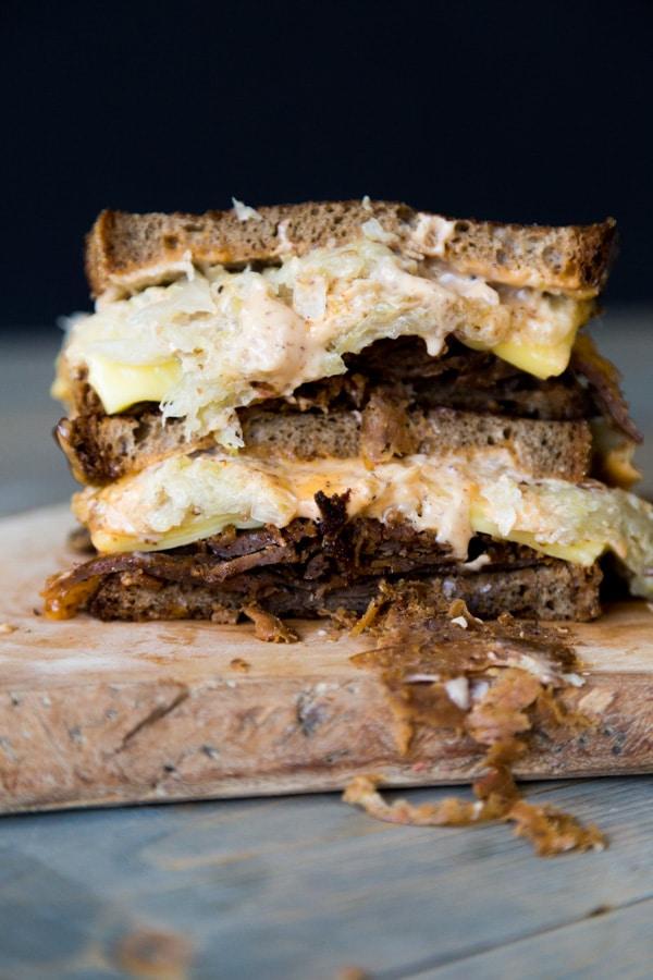 vegan sandwiches seitan Reuben-3