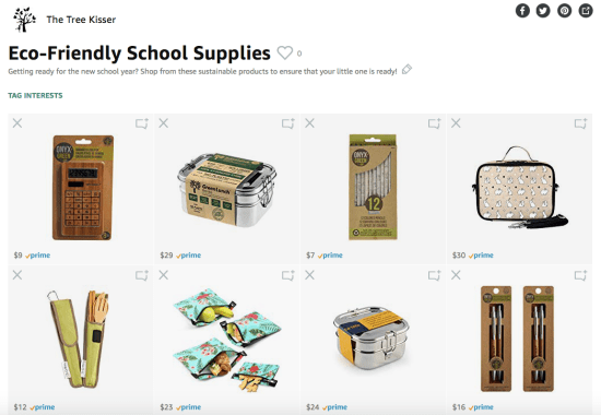 eco-friendly school supplies sustainable