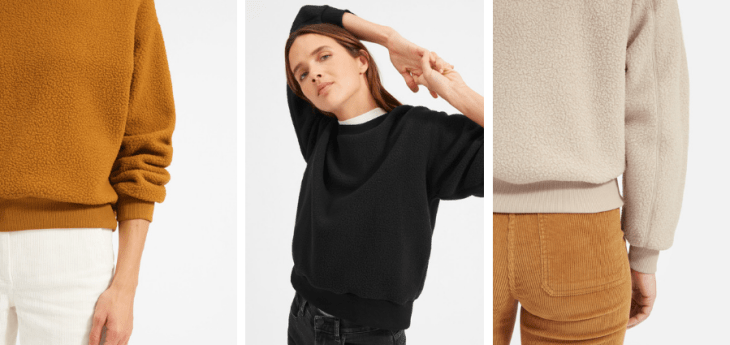 eco-friendly gifts sustainable everlane recycled polyester fleece