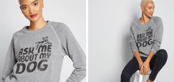 gifts for dog lovers modcloth sweatshirt 2018