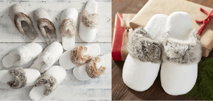 vegan gifts under 30 dollars pottery barn faux fur slippers