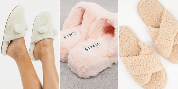 fuzzy vegan slippers from ASOS