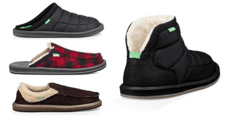 Sanuk vegan slippers for men