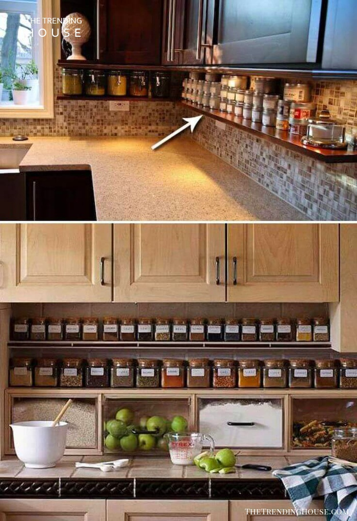 23 neat clutter free kitchen countertop