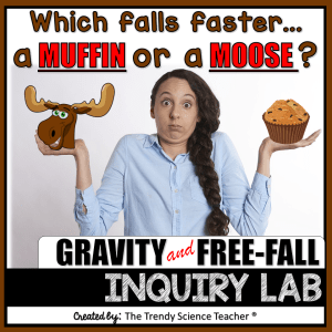 acceleration, gravity and free fall Physical Science Inquiry Lab Activity