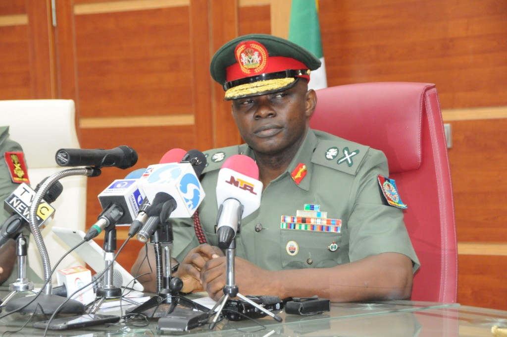The Chief of Defence Staff Major General AG Olonisakin after he takes over command of the Defence Headquarters 1024x680 - DHQ, film makers partner to correct wrong narratives of Nigerian military