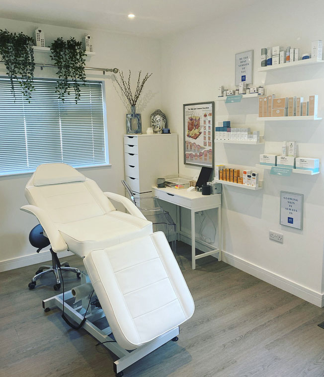 House of Skincare beauty treatment room in Kingsteignton, Devon