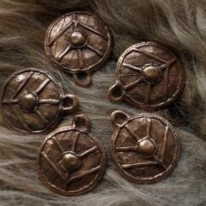 Bronze Viking Shield Pendant