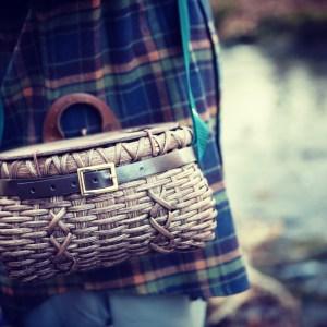 Hand-Woven Fishing Creel
