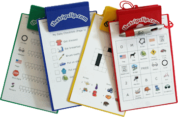 Lots of printable activities for kids - picture checklists to keep them on track, activities for at the grocery store, in the car, on a plane, at a restaurant, even for your home schooling adventures. Optional kid-sized clipboard and 4-color pen make it easy to use the activities on the go.