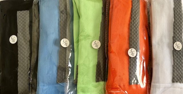 The winners of our Coolover compression sock giveaway can choose between black, light blue, lime green, orange, or white