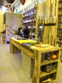 100% Design has commissioned Mette studio to design a space and they came up with this, the Farm Kitchen. This is the Chop & Change modular kitchen workspace system.