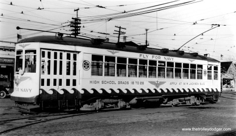 CSL 1775 in 1942, sporting the first of three patriotic paint schemes for this car.