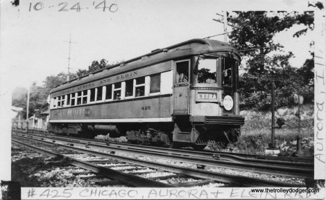 CA&E 425 at Glen Oak on a September 2, 1940 CERA fantrip.