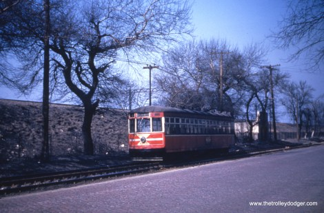 Car 3345 by the Illinois Central on route 4 - Cottage Grove.