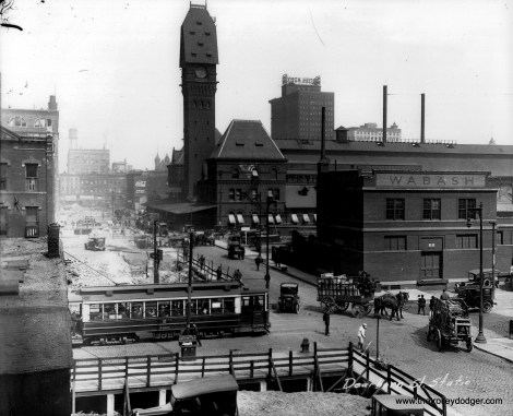Dearborn Station as it appeared in the mid-1920s. This picture was most likely taken on a glass plate negative.