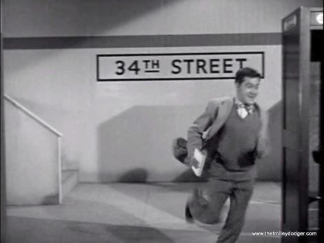 A rather basic subway set was built for this episode, with a small stairway, a vending machine, a phone booth, and some subway tile. Looks like Metropolis has a 34th Street station just like Manhattan does