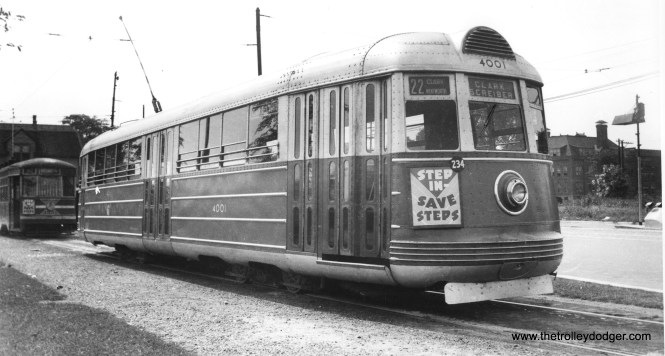 CSL 4001 on route 22, Clark-Wentworth, probably in the late 1930s.