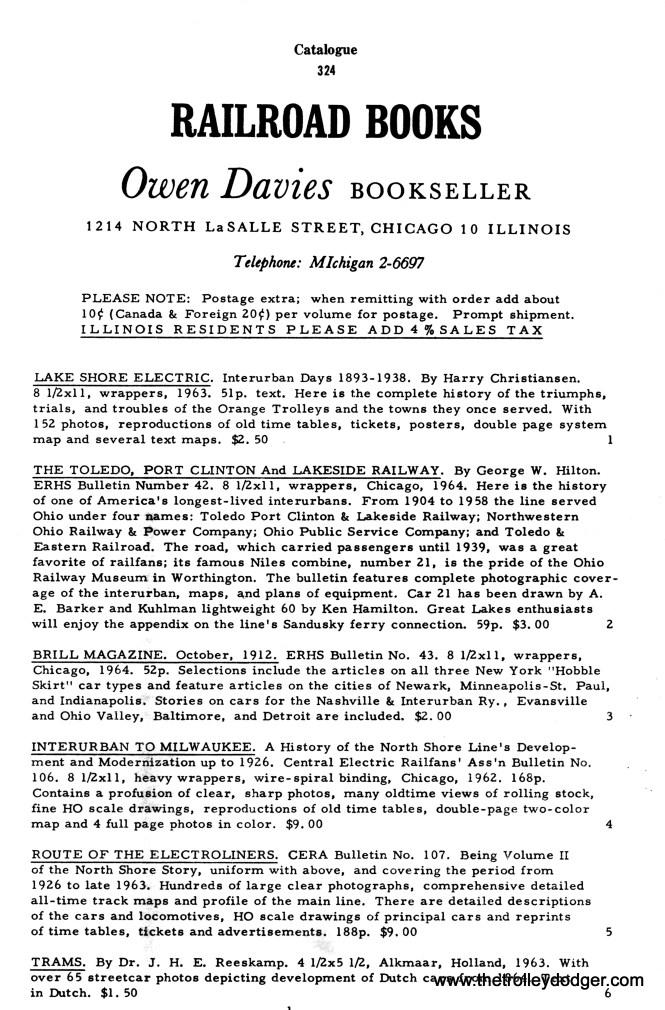 An Owen Davies catalog circa 1963.