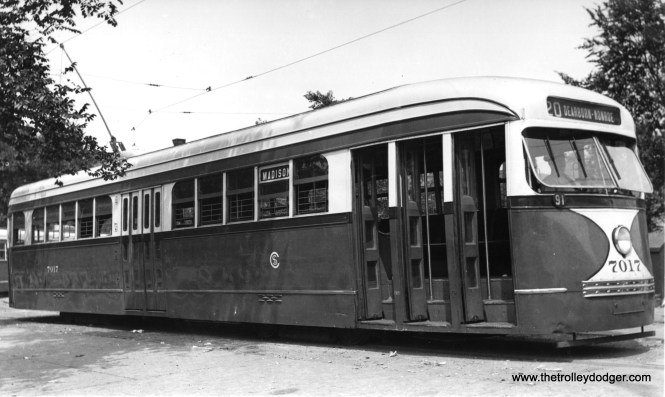 CSL 7017 at Madison and Austin in 1938.