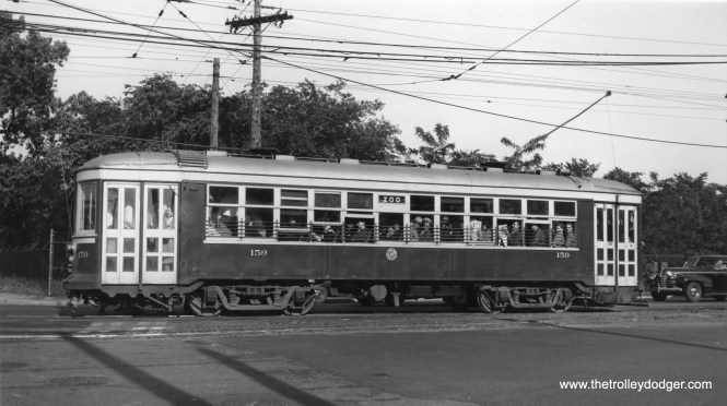 This picture of C&WT 159 may have been taken on Harlem Avenue between Cermak and 26th.