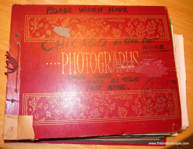 One anonymous railfan's album on clippings, titled