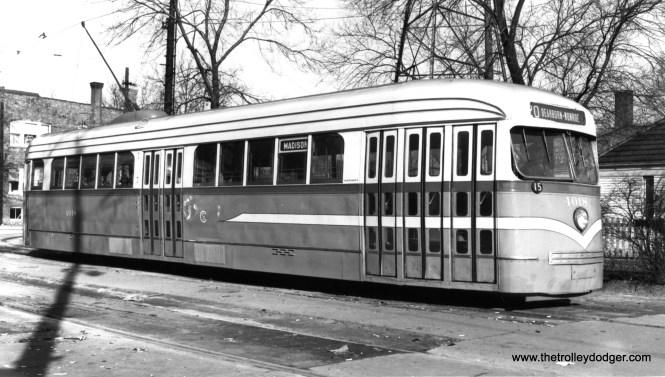CSL 4018 at the Madison-Austin loop in February 1946. (Joe L. Diaz Photo)