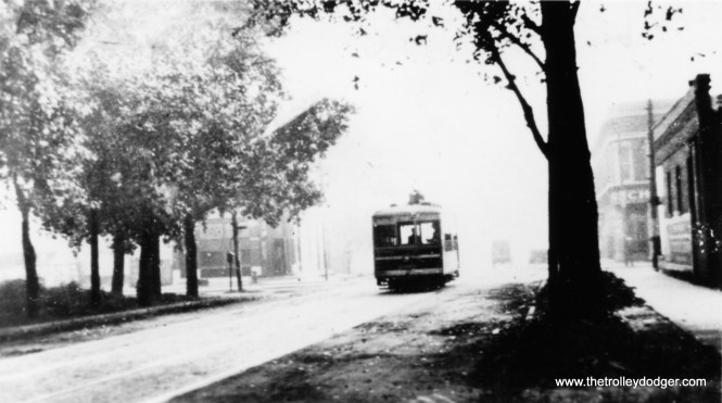 While lightweight single-truck Birney cars were successful in many smaller cities and towns, such as Fort Collins, Colorado, they were not successful in Chicago. Here we see a rare shot of CSL 2901 at 71st and State in 1924.