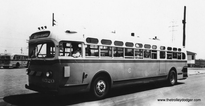 CSL bus 6520 on extension route 103A. The original version of this route operated between 1930 and 1941. (Railway Negative Exchange Photo)