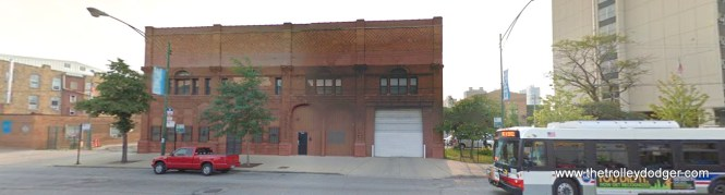 A contemporary view of the former car barn at approximately 5834 North Broadway.