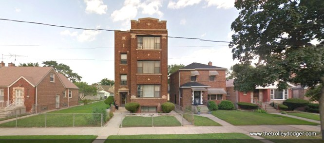 The three-flat at 10235 S. Vernon today.