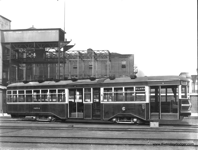 "CSL 6294, built for the Chicago City Railway, at the Brill plant in 1929. Surface Lines was an ""umbrella"" that presented a unified transit operator to the public, but it was actually made up of constituent companies. Of the 33 Brill Sedans, 20 were purchased by Chicago Railways and 13 by the Chicago City Railway. This balkanized arrangement continued until the Chicago Transit Authority took over in 1947."