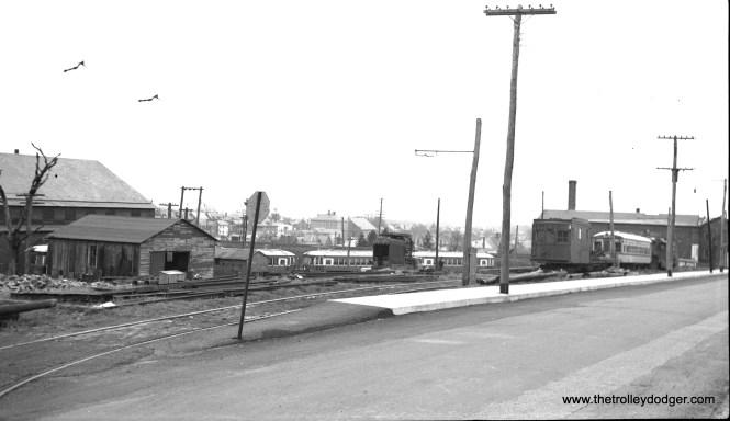 LVT's Souderton car barn in 1951.