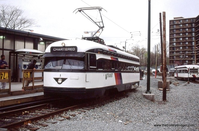 Car 1 is again in front of the fan's cameras as it poses for even more photos at Franklin Avenue. We made several trips of the entire subway.