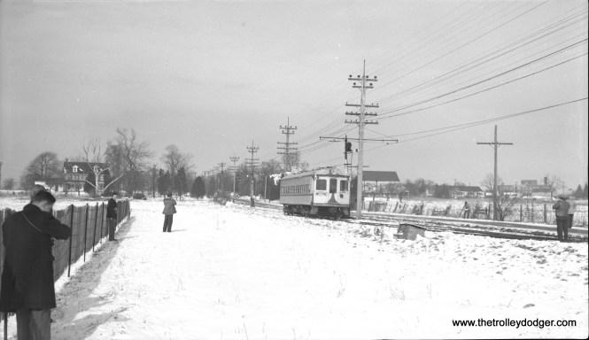 LVT 702 at Locust Siding on February 11, 1951.