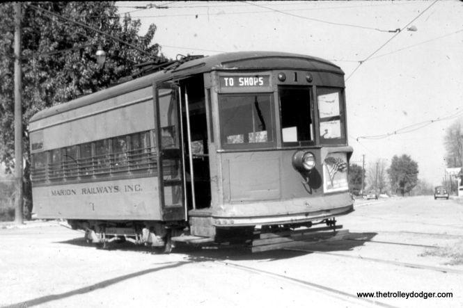A Marion (Indiana) Birney car circa 1940.