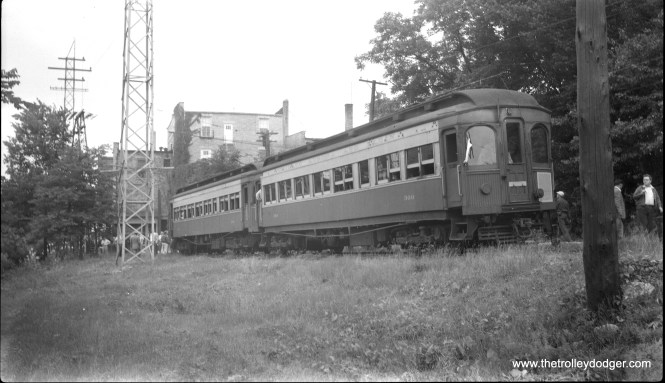 CA&E 300 and 318 at Batavia on a July 4, 1956 CERA fantrip.