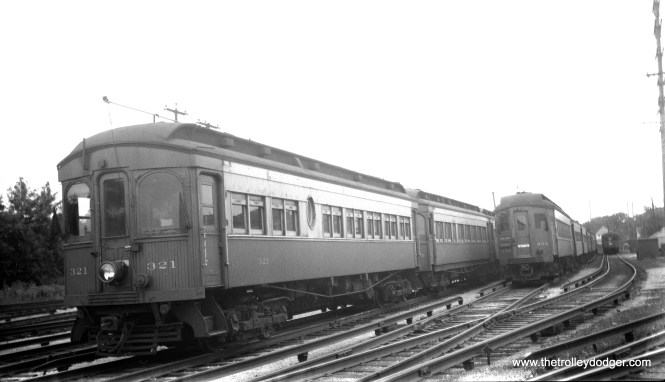CA&E 321 and 404 at Wheaton on July 4, 1956.
