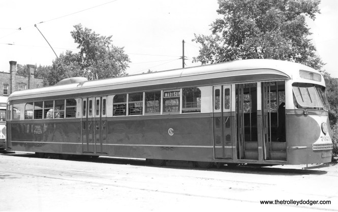 CSL 7029 at Madison and Austin on July 16, 1938. (M. D. McCarter Collection)