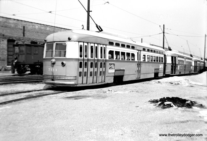 """According to George Trapp, CTA 7113 """"appears to be at Devon Station at the southwest end of the south yard."""""""
