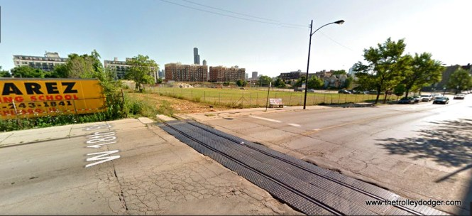 18th and Sangamon today. We are looking northeast.