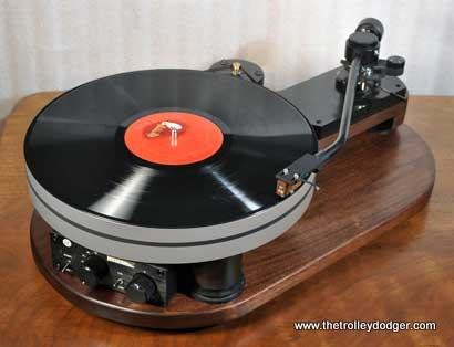 """Specialized equipment is required to play a 16"""" transcription disc. This is one such turntable made by Esoteric Sound."""