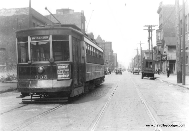 CSL Pullman 335 at Jefferson and 14th, probably in the mid-1930s. (Edward Frank, Jr. Photo)