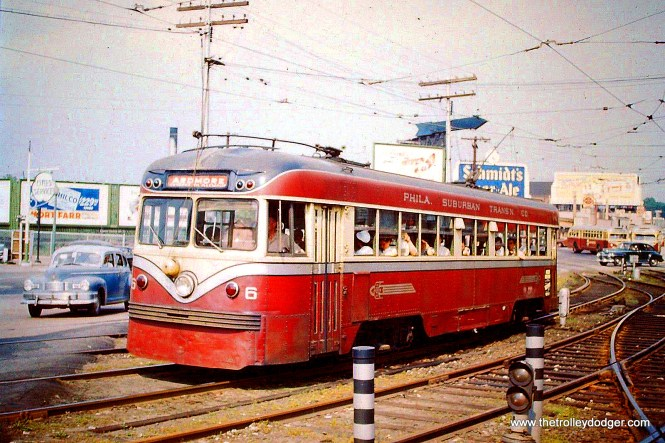 Brilliner 6 in Ardmore service near 69th Street Terminal circa 1954.
