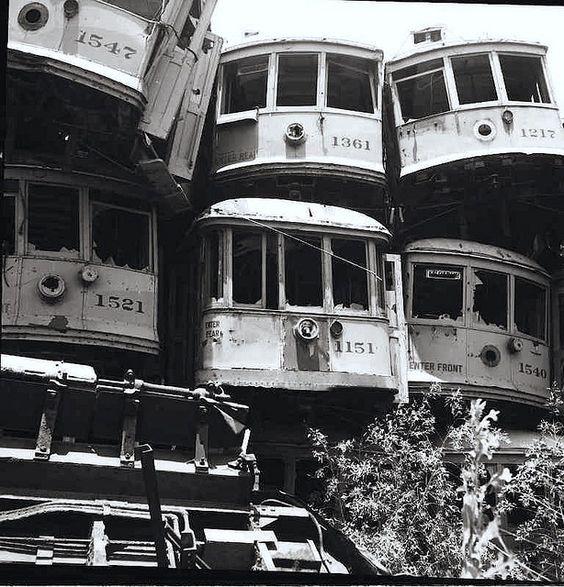 Scrapping at National Metals on Terminal Island circa 1956.