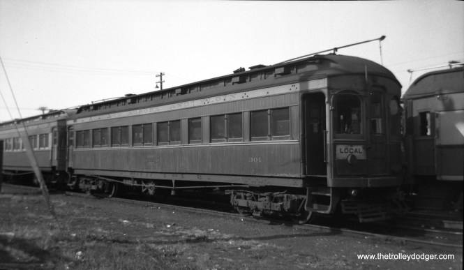 """Don's Rail Photos: """"301 was built by Niles Car & Mfg Co in 1906. It was modernized in December 1940."""""""