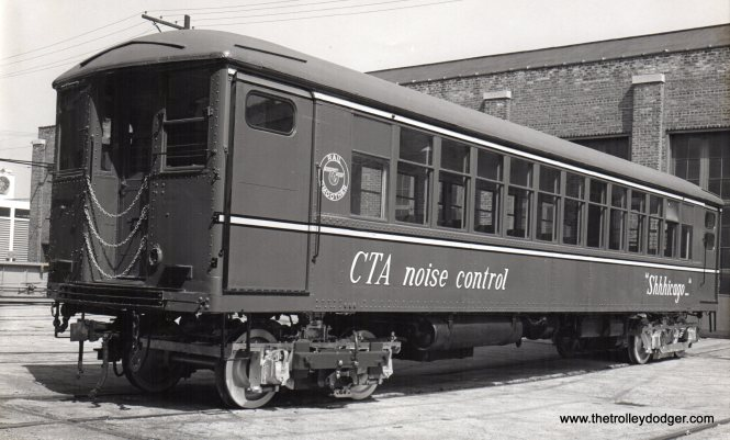"In 1972, CTA 4358 emerged as rail grinder S-I ""Shhhicago."" Don's Rail Photos: ""4358 was built by Cincinnati Car in 1924, (order) #2860."""